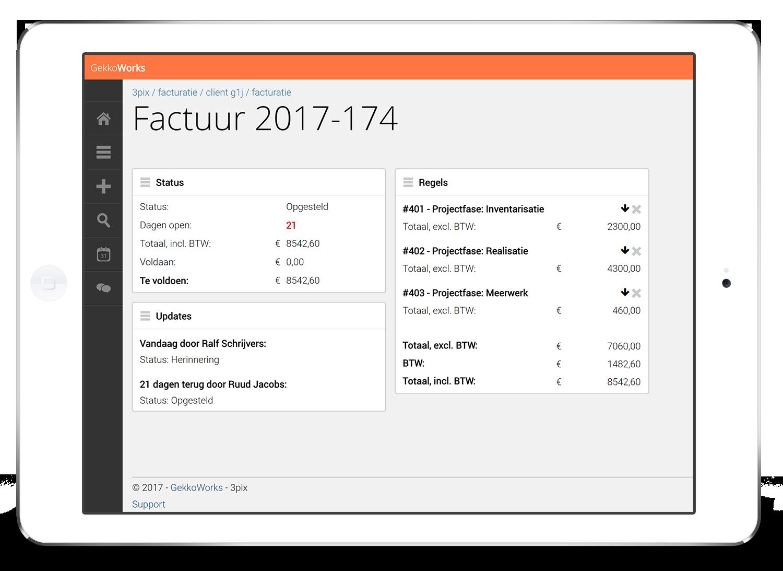 Online facturatie op je iPad, met GekkoWorks