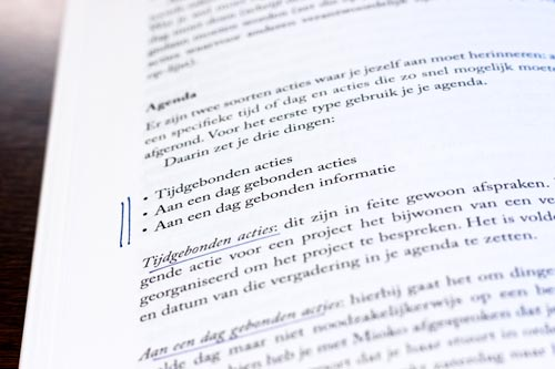 Paginavoorbeeld boek Getting Things Done