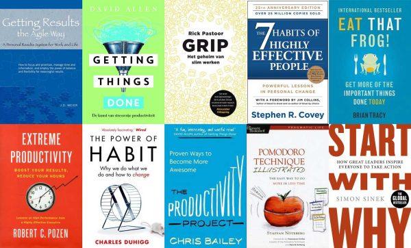 Overzicht van 10 productiviteitsboeken