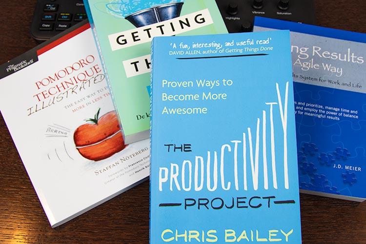 Deze drie boeken komen terug in The Productivity Project