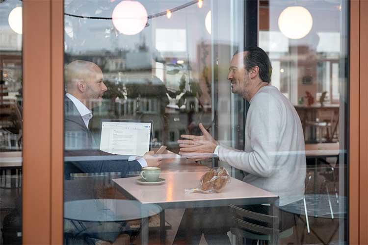 Boris en Bas in gesprek in Amsterdam