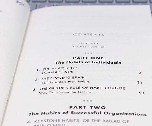 Inhoudsopgave boek The Habit Loop