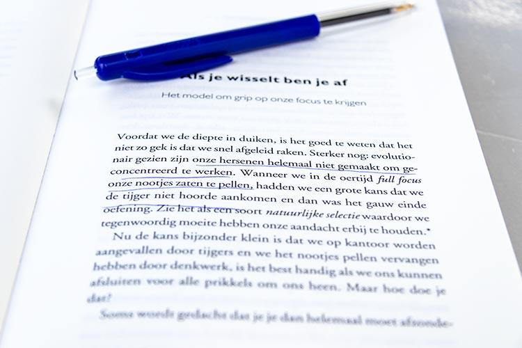 Als je wisselt ben je af. Uit het boek: 'Focus AAN/UIT'.