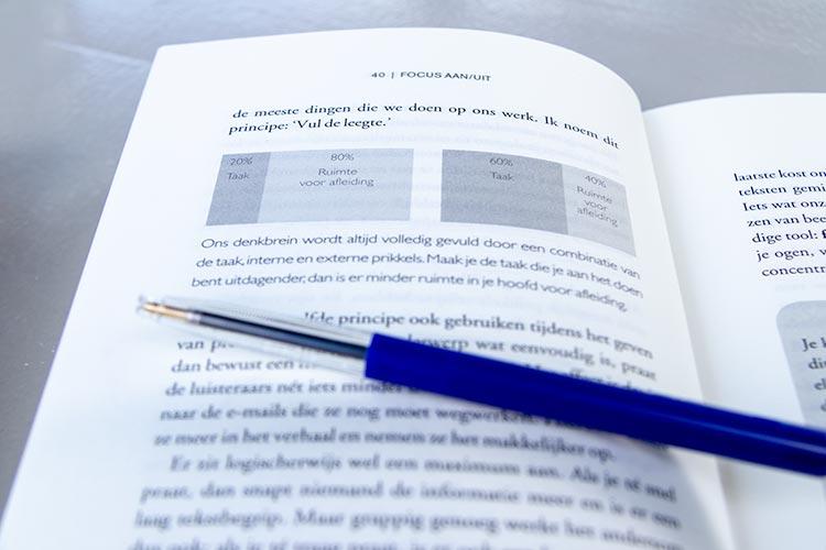 Vul de leegte. Uit het boek: 'Focus AAN/UIT'.