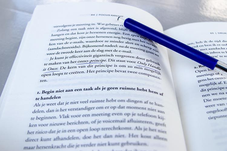 OHIO-principe. Uit het boek: 'Focus AAN/UIT'.