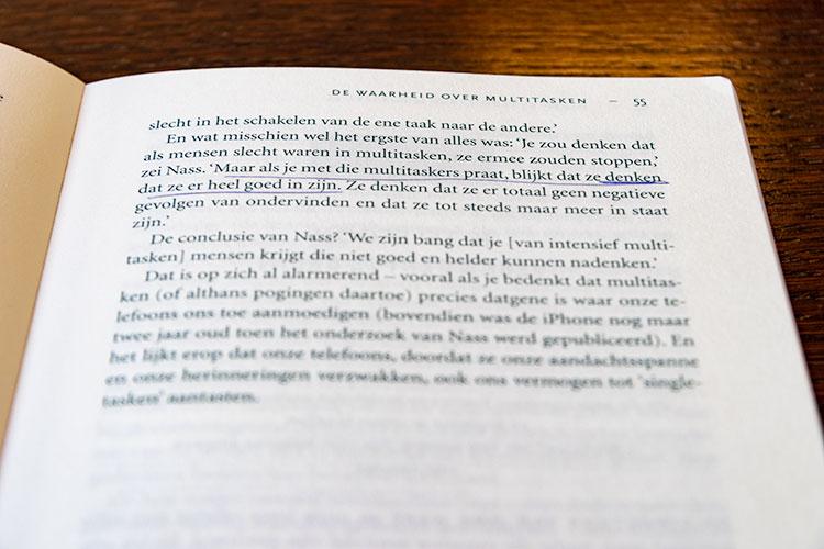 'De waarheid over multitasken' uit het boek 'Ik maak het uit' door Catherine Price