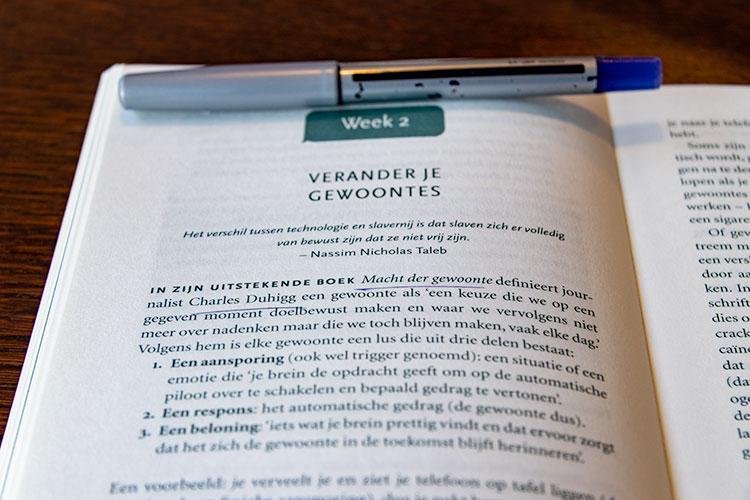 'Verander je gewoontes' uit het boek 'Ik maak het uit' door Catherine Price