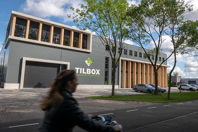 Vooraanzicht van het nieuwe pand van Tilbox te Valkenswaard