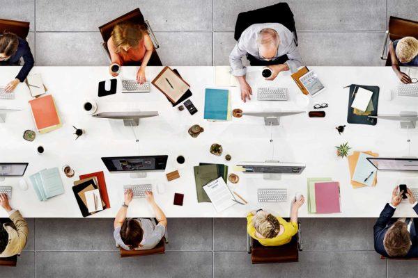 Werken in kantoortuin