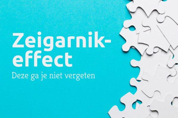 Zeigarnik-effect en productiviteit